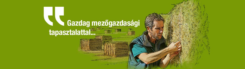 Gazdag mezőgazdasági tapasztalattal…